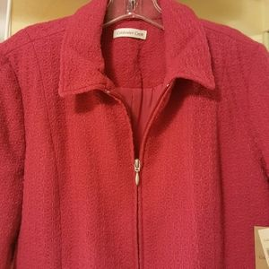 Coldwater Creek sz 12 raspberry jacket